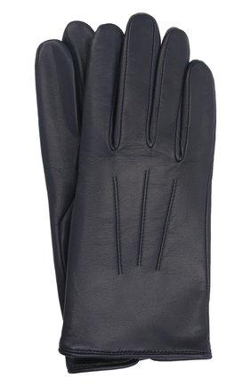 Мужские кожаные перчатки AGNELLE темно-синего цвета, арт. SLIMMERCURY/C100 | Фото 1 (Мужское Кросс-КТ: Кожа и замша)