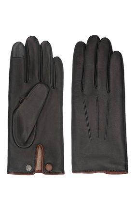 Мужские кожаные перчатки rick AGNELLE черного цвета, арт. RICK/C100 | Фото 2 (Мужское Кросс-КТ: Кожа и замша)