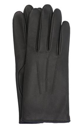 Мужские кожаные перчатки rick AGNELLE темно-серого цвета, арт. RICK/C100 | Фото 1 (Мужское Кросс-КТ: Кожа и замша)