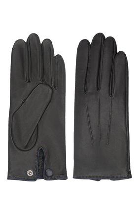 Мужские кожаные перчатки rick AGNELLE темно-серого цвета, арт. RICK/C100 | Фото 2 (Мужское Кросс-КТ: Кожа и замша)
