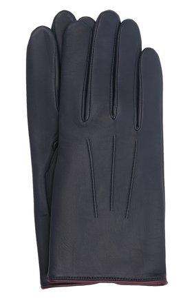 Мужские кожаные перчатки rick AGNELLE темно-синего цвета, арт. RICK/C100 | Фото 1 (Мужское Кросс-КТ: Кожа и замша)