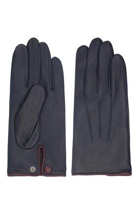 Мужские кожаные перчатки rick AGNELLE темно-синего цвета, арт. RICK/C100 | Фото 2 (Мужское Кросс-КТ: Кожа и замша)