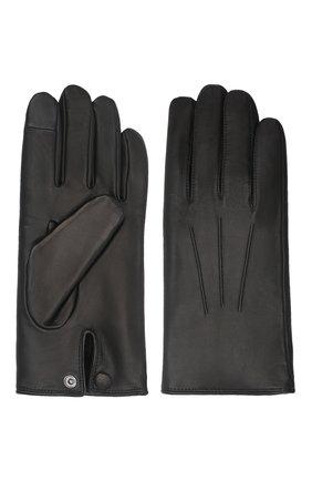 Мужские кожаные перчатки rabbit AGNELLE черного цвета, арт. RABBIT | Фото 2 (Мужское Кросс-КТ: Кожа и замша)