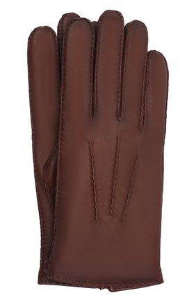 Мужские кожаные перчатки arthur AGNELLE коричневого цвета, арт. ARTHUR/C100 | Фото 1 (Мужское Кросс-КТ: Кожа и замша)