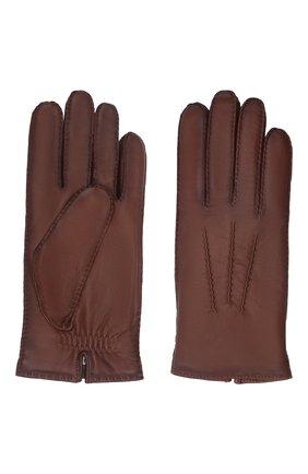 Мужские кожаные перчатки arthur AGNELLE коричневого цвета, арт. ARTHUR/C100 | Фото 2 (Мужское Кросс-КТ: Кожа и замша)