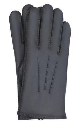 Мужские кожаные перчатки arthur AGNELLE синего цвета, арт. ARTHUR/C100 | Фото 1 (Мужское Кросс-КТ: Кожа и замша)