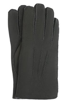 Мужские замшевые перчатки alexis AGNELLE темно-серого цвета, арт. ALEXIS/ND | Фото 1 (Материал: Замша; Мужское Кросс-КТ: Кожа и замша)