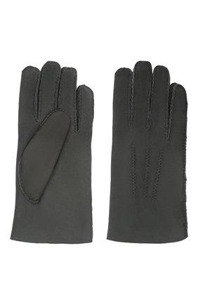 Мужские замшевые перчатки alexis AGNELLE темно-серого цвета, арт. ALEXIS/ND | Фото 2 (Материал: Замша; Мужское Кросс-КТ: Кожа и замша)
