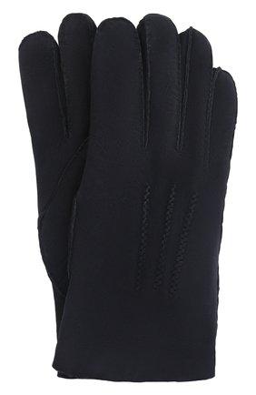 Мужские замшевые перчатки alexis AGNELLE темно-синего цвета, арт. ALEXIS/ND | Фото 1 (Материал: Замша; Мужское Кросс-КТ: Кожа и замша)