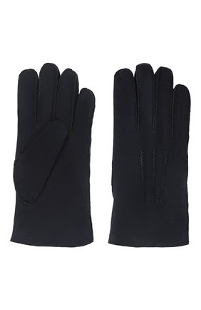 Мужские замшевые перчатки alexis AGNELLE темно-синего цвета, арт. ALEXIS/ND | Фото 2 (Материал: Замша; Мужское Кросс-КТ: Кожа и замша)