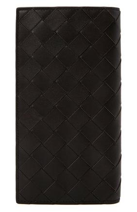 Мужской кожаное портмоне BOTTEGA VENETA темно-коричневого цвета, арт. 676593/VCPQ5 | Фото 1