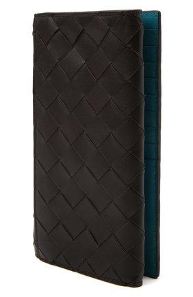 Мужской кожаное портмоне BOTTEGA VENETA темно-коричневого цвета, арт. 676593/VCPQ5 | Фото 2