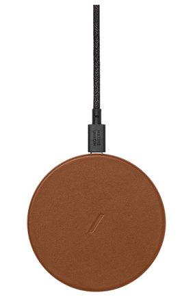 Беспроводное зарядное устройство native union drop NATIVE UNION коричневого цвета, арт. DROP-BRN-CLTHR-NP | Фото 1