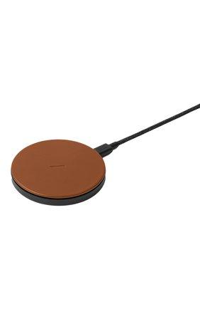 Беспроводное зарядное устройство native union drop NATIVE UNION коричневого цвета, арт. DROP-BRN-CLTHR-NP | Фото 2