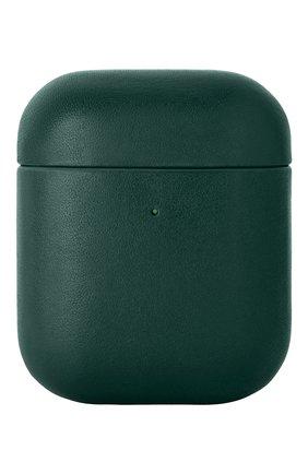 Чехол для airpods NATIVE UNION зеленого цвета, арт. APCSE-LTHR-GRN-AP | Фото 1