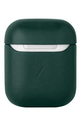 Чехол для airpods NATIVE UNION зеленого цвета, арт. APCSE-LTHR-GRN-AP | Фото 2