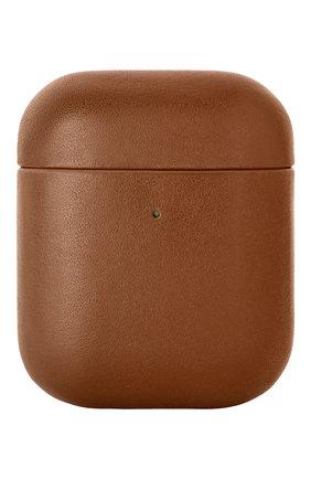 Чехол для airpods NATIVE UNION коричневого цвета, арт. APCSE-LTHR-BRN-AP | Фото 1