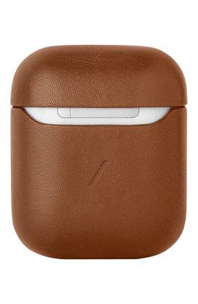 Чехол для airpods NATIVE UNION коричневого цвета, арт. APCSE-LTHR-BRN-AP | Фото 2