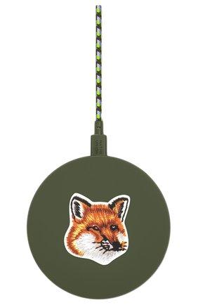 Беспроводное зарядное устройство native union drop maison kitsune NATIVE UNION зеленого цвета, арт. DROP-GRN-FB-MK | Фото 1