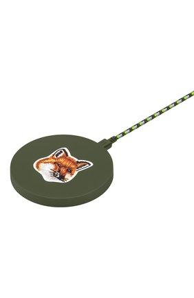 Беспроводное зарядное устройство native union drop maison kitsune NATIVE UNION зеленого цвета, арт. DROP-GRN-FB-MK | Фото 2