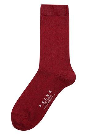 Женские носки FALKE красного цвета, арт. 47548   Фото 1 (Материал внешний: Шерсть)