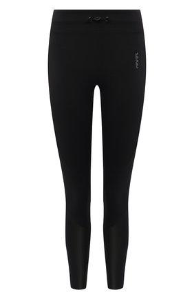 Женские леггинсы KORAL черного цвета, арт. A2524HE32   Фото 1 (Материал внешний: Синтетический материал; Длина (брюки, джинсы): Стандартные; Стили: Спорт-шик; Женское Кросс-КТ: Леггинсы-спорт)