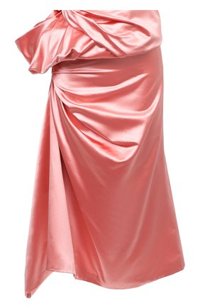 Женская юбка из хлопка и шелка DRIES VAN NOTEN розового цвета, арт. 212-010876-3356 | Фото 1 (Материал внешний: Шелк, Хлопок; Длина Ж (юбки, платья, шорты): Макси; Материал подклада: Вискоза; Стили: Гламурный; Женское Кросс-КТ: Юбка-одежда)