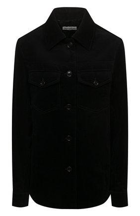 Женская хлопковая куртка DRIES VAN NOTEN черного цвета, арт. 212-010522-3254 | Фото 1 (Материал внешний: Хлопок; Стили: Минимализм; Кросс-КТ: Куртка; Рукава: Длинные; Длина (верхняя одежда): Короткие)