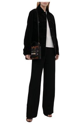 Женская хлопковая куртка DRIES VAN NOTEN черного цвета, арт. 212-010522-3254 | Фото 2 (Материал внешний: Хлопок; Стили: Минимализм; Кросс-КТ: Куртка; Рукава: Длинные; Длина (верхняя одежда): Короткие)