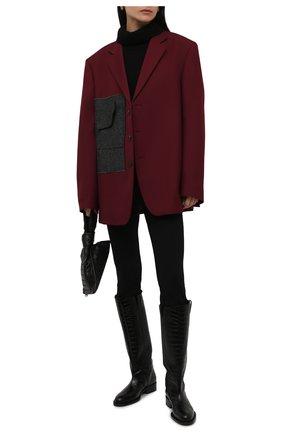 Женские кожаные сапоги TOM FORD черного цвета, арт. W2986T-LCL125   Фото 2 (Каблук высота: Низкий; Подошва: Платформа; Материал внутренний: Натуральная кожа; Высота голенища: Средние; Каблук тип: Устойчивый)