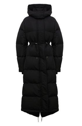 Женский пуховик ALEXANDER MCQUEEN черного цвета, арт. 672760/QZAD1 | Фото 1 (Рукава: Длинные; Материал подклада: Синтетический материал; Длина (верхняя одежда): Длинные; Материал внешний: Синтетический материал; Стили: Спорт-шик; Кросс-КТ: Куртка, Пуховик)