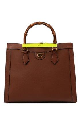 Женская сумка diana medium GUCCI коричневого цвета, арт. 655658/17QDT | Фото 1 (Материал: Натуральная кожа; Сумки-технические: Сумки top-handle; Размер: medium)