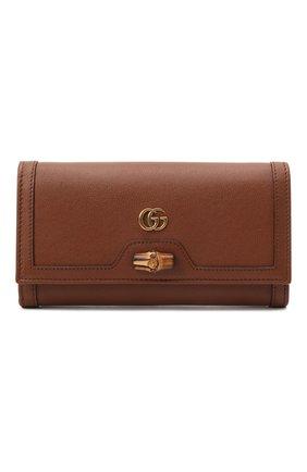 Женская сумка diana GUCCI коричневого цвета, арт. 658243/17Q0T | Фото 1 (Материал: Натуральная кожа; Женское Кросс-КТ: Вечерняя сумка; Сумки-технические: Сумки через плечо; Размер: small)