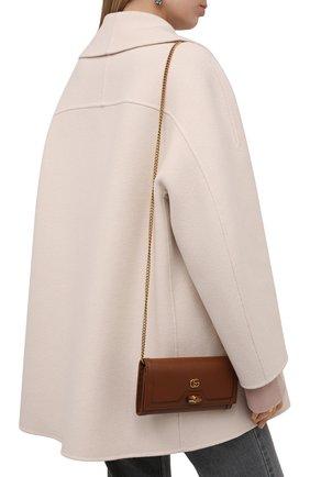 Женская сумка diana GUCCI коричневого цвета, арт. 658243/17Q0T | Фото 2 (Материал: Натуральная кожа; Женское Кросс-КТ: Вечерняя сумка; Сумки-технические: Сумки через плечо; Размер: small)