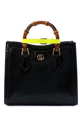 Женская сумка diana small GUCCI черного цвета, арт. 660195/L2DPT/PBIV | Фото 1 (Ремень/цепочка: На ремешке; Размер: small; Сумки-технические: Сумки top-handle)