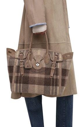 Женская сумка ricky 33 RALPH LAUREN разноцветного цвета, арт. 435860127 | Фото 2 (Материал: Текстиль; Размер: medium; Ошибки технического описания: Нет ширины; Сумки-технические: Сумки top-handle)