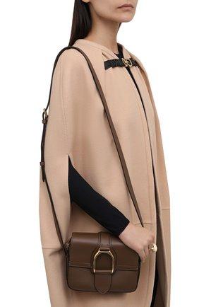 Женская сумка welington RALPH LAUREN коричневого цвета, арт. 435867741 | Фото 2 (Ремень/цепочка: На ремешке; Материал: Натуральная кожа; Размер: mini; Сумки-технические: Сумки через плечо)
