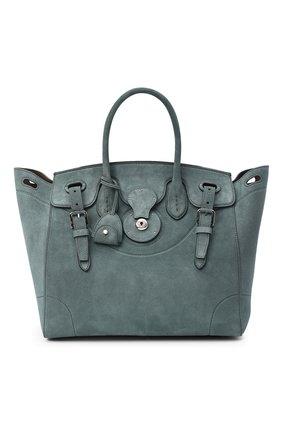 Женская сумка ricky 33 RALPH LAUREN голубого цвета, арт. 435862369 | Фото 1 (Размер: medium; Материал: Натуральная кожа; Ошибки технического описания: Нет ширины; Сумки-технические: Сумки top-handle)