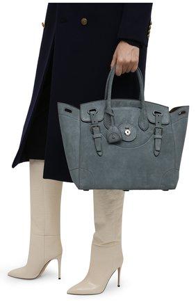 Женская сумка ricky 33 RALPH LAUREN голубого цвета, арт. 435862369 | Фото 2 (Размер: medium; Материал: Натуральная кожа; Ошибки технического описания: Нет ширины; Сумки-технические: Сумки top-handle)
