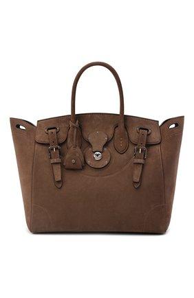 Женская сумка ricky 33 RALPH LAUREN коричневого цвета, арт. 435862369 | Фото 1 (Материал: Натуральная кожа; Размер: medium; Ошибки технического описания: Нет ширины; Сумки-технические: Сумки top-handle)