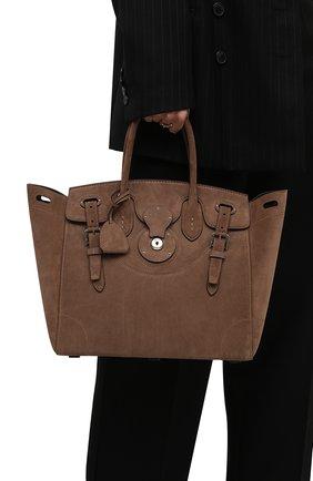 Женская сумка ricky 33 RALPH LAUREN коричневого цвета, арт. 435862369 | Фото 2 (Материал: Натуральная кожа; Размер: medium; Ошибки технического описания: Нет ширины; Сумки-технические: Сумки top-handle)