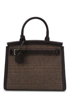 Женская сумка rl 50 medium RALPH LAUREN темно-коричневого цвета, арт. 435856481 | Фото 1 (Размер: medium; Ремень/цепочка: На ремешке; Материал: Текстиль; Сумки-технические: Сумки top-handle)