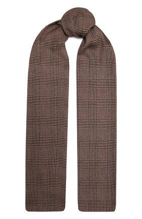 Женский шарф из кашемира и шелка RALPH LAUREN коричневого цвета, арт. 434857562 | Фото 1 (Материал: Шерсть, Кашемир)