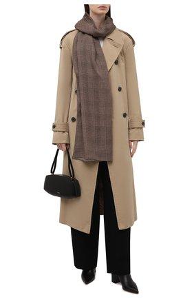 Женский шарф из кашемира и шелка RALPH LAUREN коричневого цвета, арт. 434857562 | Фото 2 (Материал: Шерсть, Кашемир)