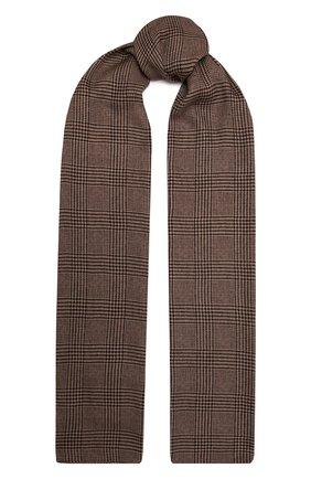 Женский шерстяной шарф RALPH LAUREN коричневого цвета, арт. 434857561 | Фото 1 (Материал: Шерсть)