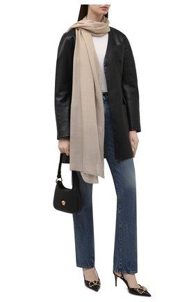 Женский шарф из кашемира и шелка RALPH LAUREN разноцветного цвета, арт. 434856455 | Фото 2 (Материал: Шерсть, Кашемир)