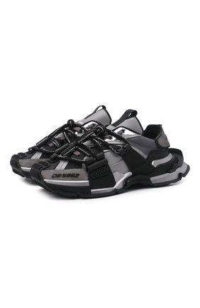 Мужские комбинированные кроссовки space DOLCE & GABBANA серого цвета, арт. CS1963/AQ393 | Фото 1 (Материал внешний: Текстиль; Материал внутренний: Текстиль, Натуральная кожа; Подошва: Массивная; Стили: Гранж)