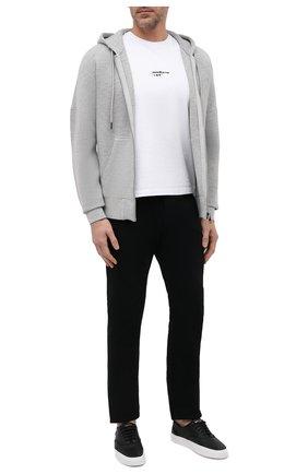 Мужской толстовка из вискозы DIESEL светло-серого цвета, арт. A02705/0DBBR   Фото 2 (Материал внешний: Вискоза; Мужское Кросс-КТ: Толстовка-одежда; Стили: Спорт-шик)