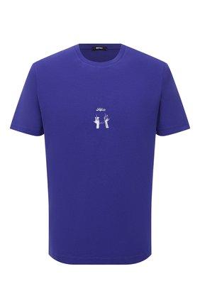 Мужская хлопковая футболка MSFTSREP фиолетового цвета, арт. 31MSFM09/218780   Фото 1 (Материал внешний: Хлопок; Рукава: Короткие; Длина (для топов): Стандартные; Принт: С принтом; Стили: Гранж)