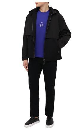 Мужская хлопковая футболка MSFTSREP фиолетового цвета, арт. 31MSFM09/218780   Фото 2 (Материал внешний: Хлопок; Рукава: Короткие; Длина (для топов): Стандартные; Принт: С принтом; Стили: Гранж)